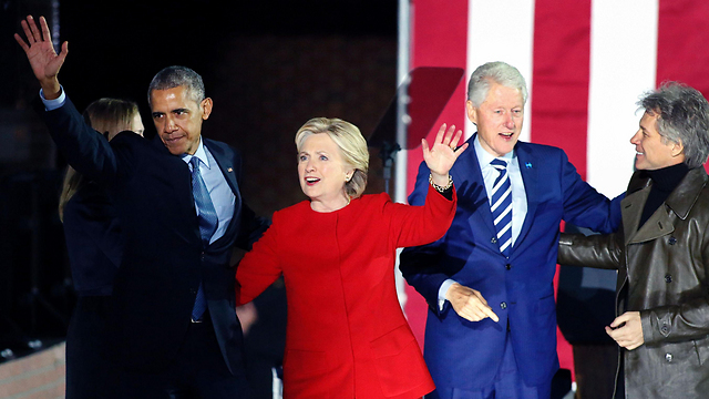 The Clintons with Obama. (Photo: AFP)