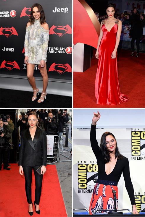 """""""גל כבר גדולה מהבגדים שהיא לובשת, וונדרוומן אמיתית"""". גדות על השטיח האדום (צילום: gettyimages)"""