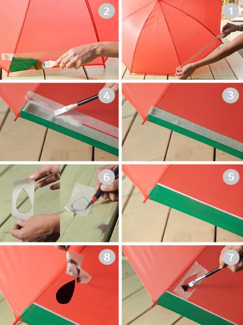 הכנת מטריית אבטיח (צילום: טל ניסים)