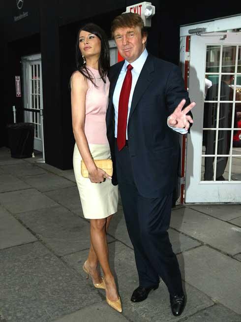 הרבה לפני המסע לנשיאות: הזוג טראמפ, 2003 (צילום: Gettyimages)