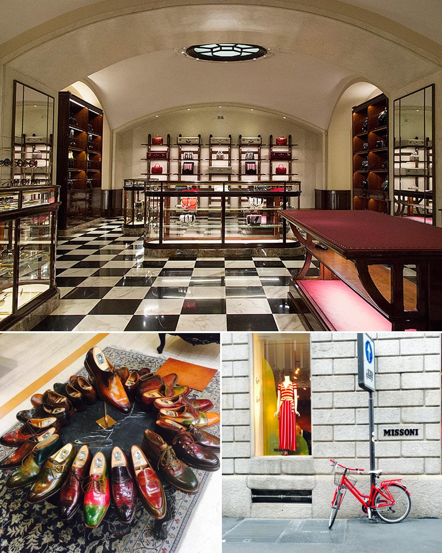 יש הרבה אופנה ועיצוב במילאנו, וגם לא מעט שופינג שחייבים להספיק. החנויות של פראדה ומיסוני (צילום: גלי שנירר)