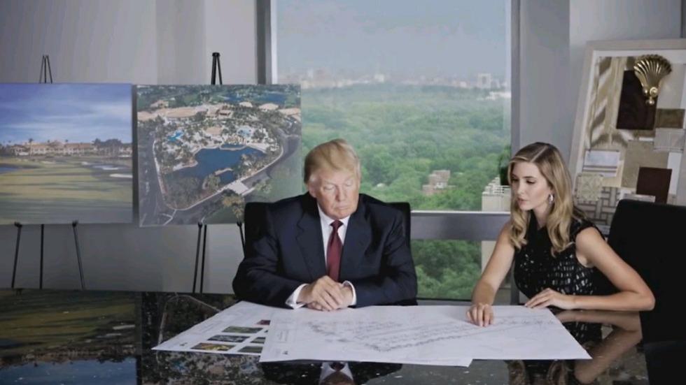 Иванка работает с отцом над проектом очередного отеля. С сайта Trump Hotels