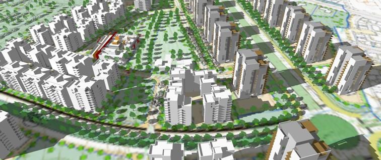 הדמיית התוכנית לשכונת מגורים באשקלון (הדמיה: אדריכל עמי שנער) (הדמיה: אדריכל עמי שנער)