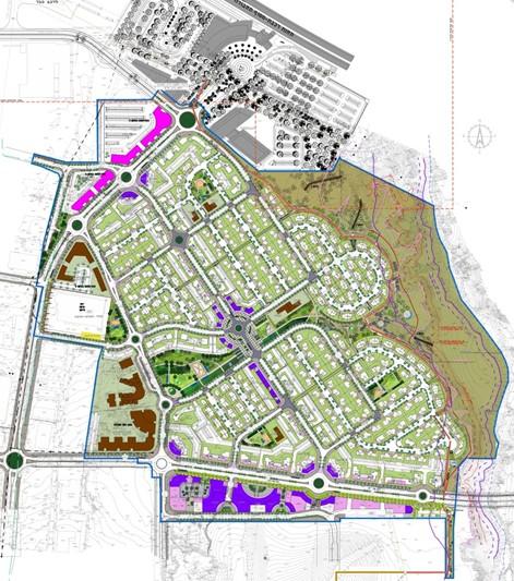 הדמיית מפת מתחם המגורים החדש באופקים (הדמיה: אלרוד אדריכלים ומתכנני ערים) (הדמיה: אלרוד אדריכלים ומתכנני ערים)