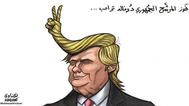 Arab cartoon after Trump's win