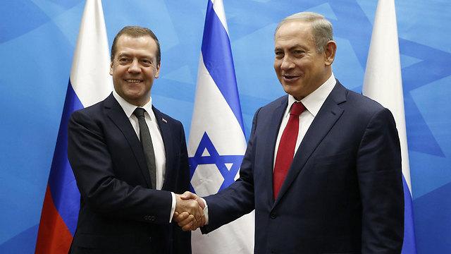 Russian Prime Minister Dmitry Medvedev and Prime Minister Benjamin Netanyahu (Photo: EPA)