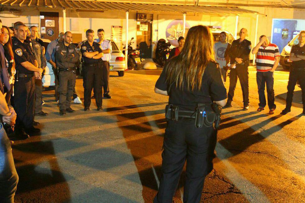 פעילות משטרתית במתחם הבורסה (צילום: דוברות המשטרה)