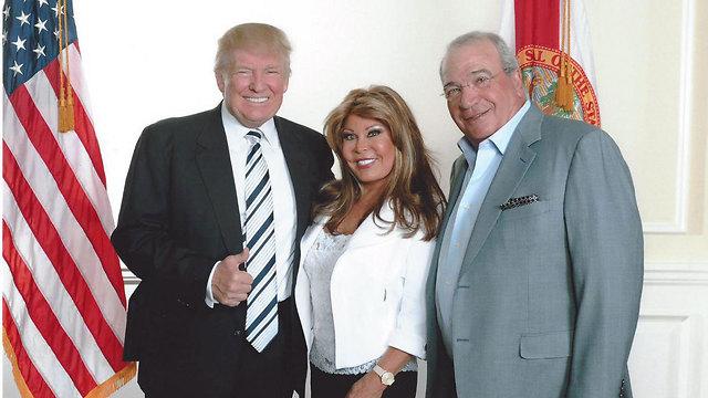 Donald Trump with Helena and Yaakov Shaham