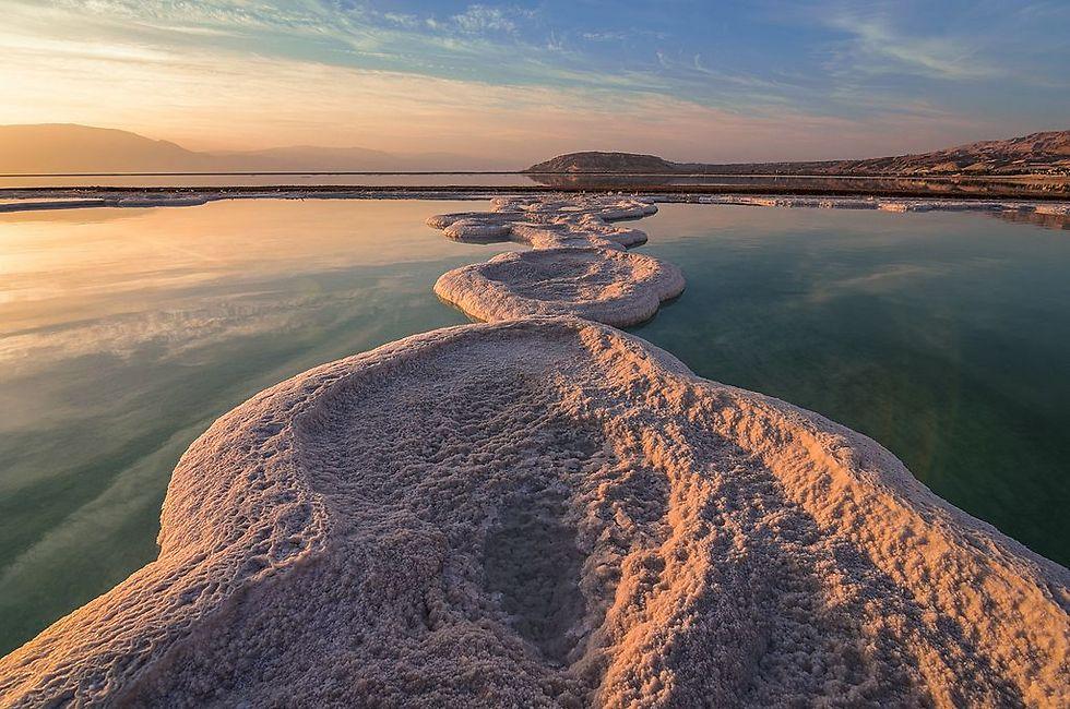 ים המלח בזריחה. מקום ראשון בדרום (צילום: איימי קיל) (צילום: איימי קיל)