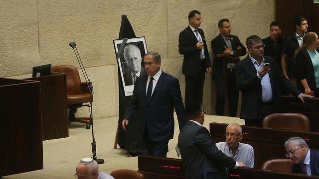 ראש הממשלה נתניהו, היום במליאה (צילום: אלכס קולומויסקי ) (צילום: אלכס קולומויסקי )
