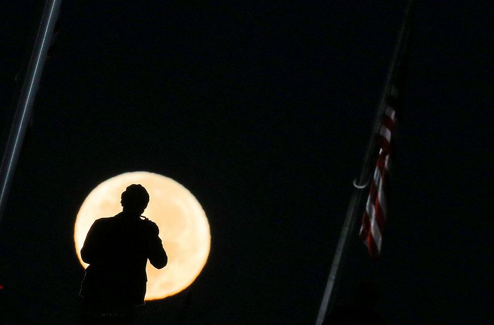 וושינגטון, הלילה (צילום: רויטרס)
