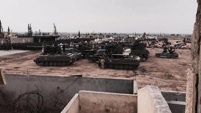 Hezbollah tracked vehicles