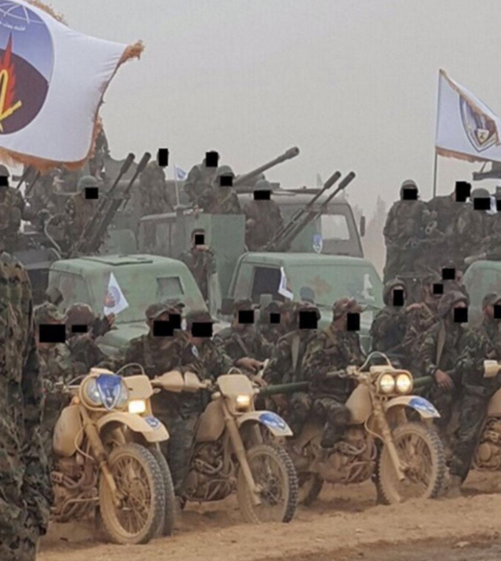 Hezbollah heavy weapons on display