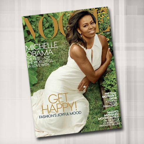 נפרדת מהבית הלבן בשער שלישי למגזין ווג. מישל אובמה