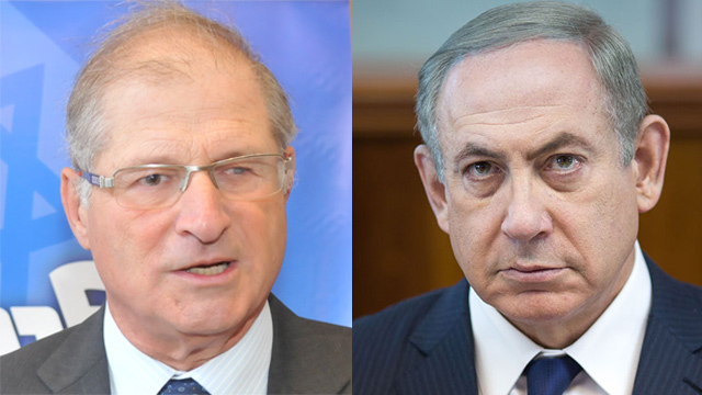 Prime Minister Benjamin Netanyahu (R) and Attorney David Shimron. Second cousins (Photos: Emil Salman, Yaron Brener)