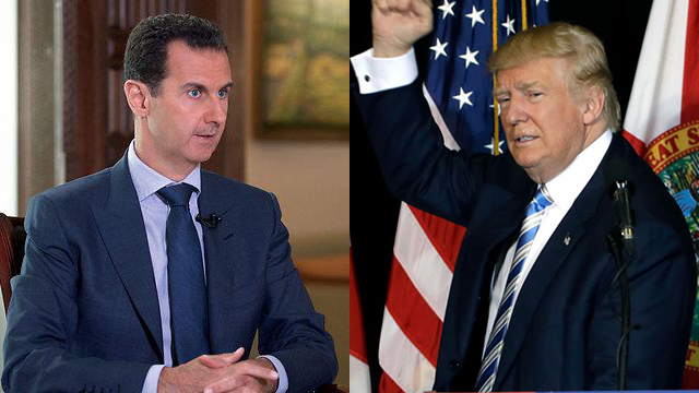 Trump and Assad (Photo: AP)