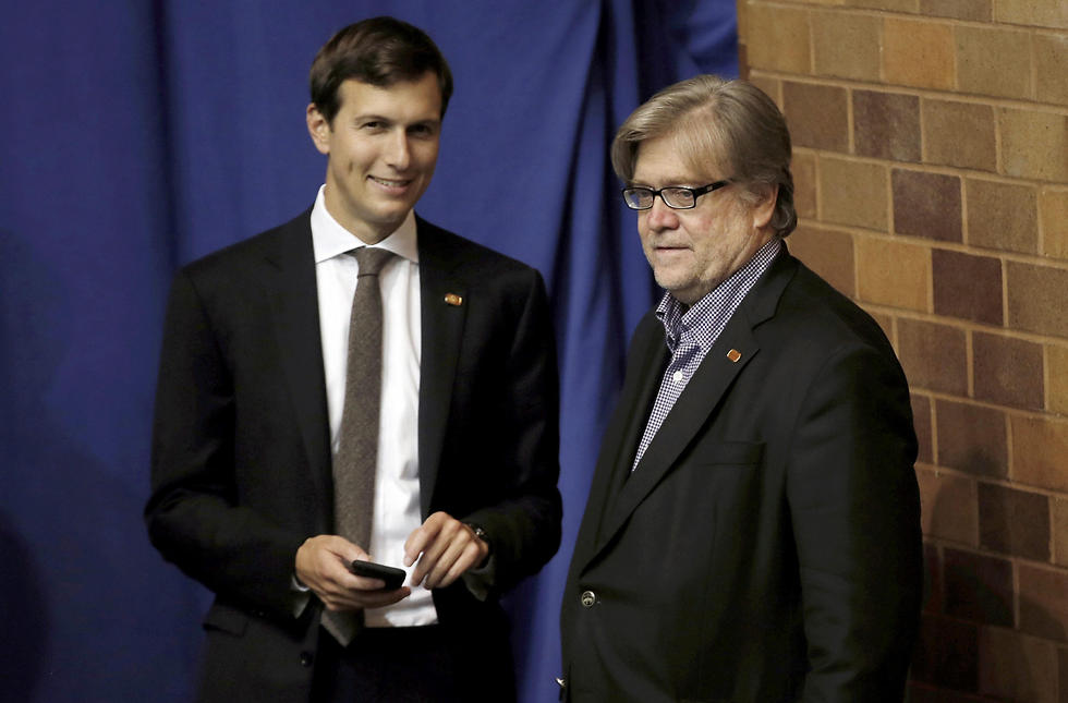 Kusher and Bannon (Photo: Reuters) (Photo: Reuters)
