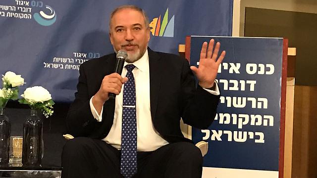 שר הביטחון אביגדור ליברמן, הבוקר באשדוד (צילום: גדי קבלו ) (צילום: גדי קבלו )