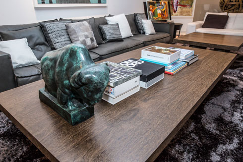 על השולחן בסלון: ספרי אופנה ועיצוב (צילום: ענבל מרמרי)