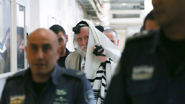 """הרב אליעזר ברלנד, אחה""""צ בבית משפט השלום בירושלים (צילום: אוהד צויגנברג) (צילום: אוהד צויגנברג)"""