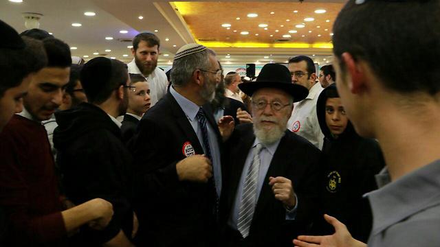 הרב דב ליאור בכנס (צילום: יחיאל גורפיין) (צילום: יחיאל גורפיין)
