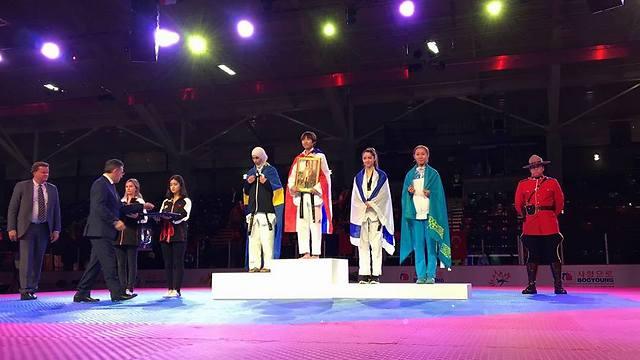 Samberg won the bronze at the 2016 Junior World Championships (Photo: Israeli Taekwondo Federation)