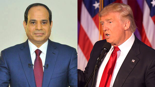Al-Sisi and Trump (Photos: AFP & EPA)