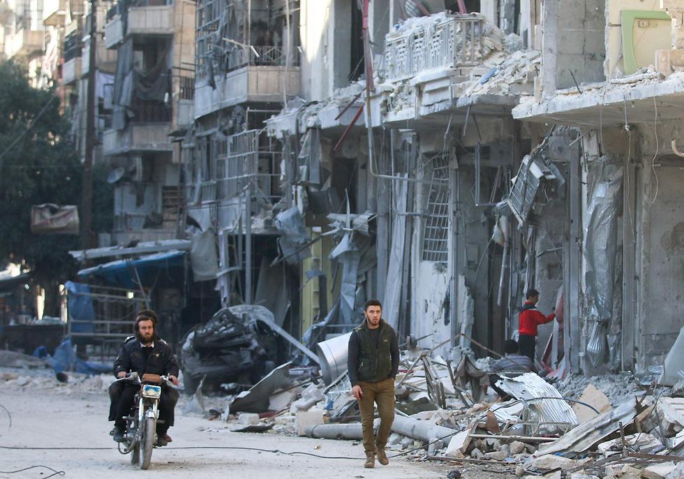 נפילת חלב בידי משטר אסד הייתה האירוע המרכזי של 2016 בסוריה (צילום: רויטרס)