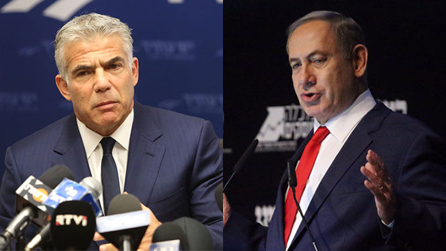 MK Lapid (L) and PM Netanyahu (Photo: Motti Kimchi and Gil Yohanan)