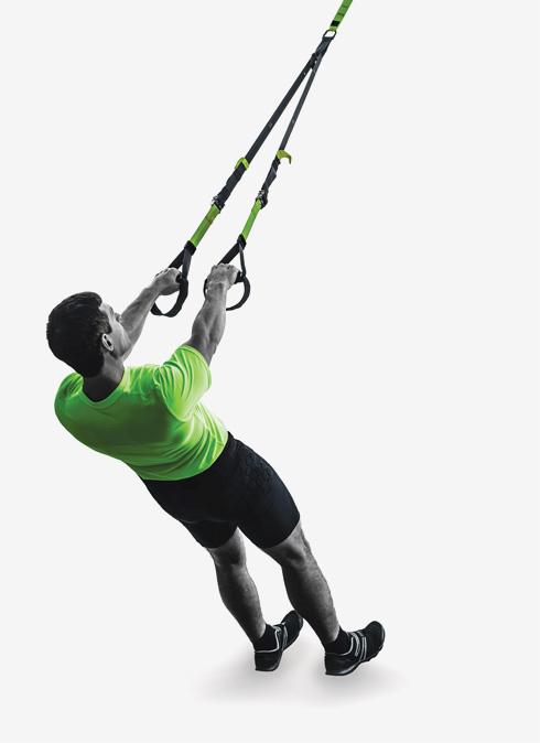 TRX. מערב קבוצות רבות של שרירים ומפרקים, ועובד על מרכיבי כושר רבים (צילום: Shutterstock)