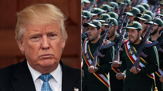 Trump; Iran's Islamic Revolutionary Guard Corps (Photos: EPA; AFP) (Photo: EPA, AFP)