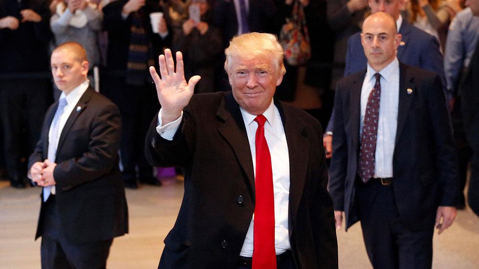 Trump at the New York Times Tuesday (Photo: AP) (Photo: AP)