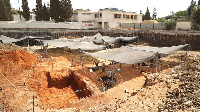 The excavation site (Photo: Israel Antiquities Authority, EYECON)