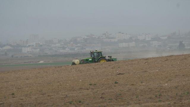 עזה מבעד לשדות כפר עזה (צילום: רועי עידן) (צילום: רועי עידן)