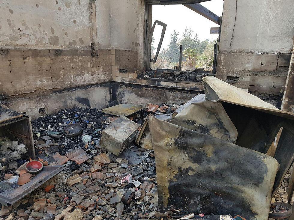 A house that burned down in Nataf (Photo: Roi Yanovsky)