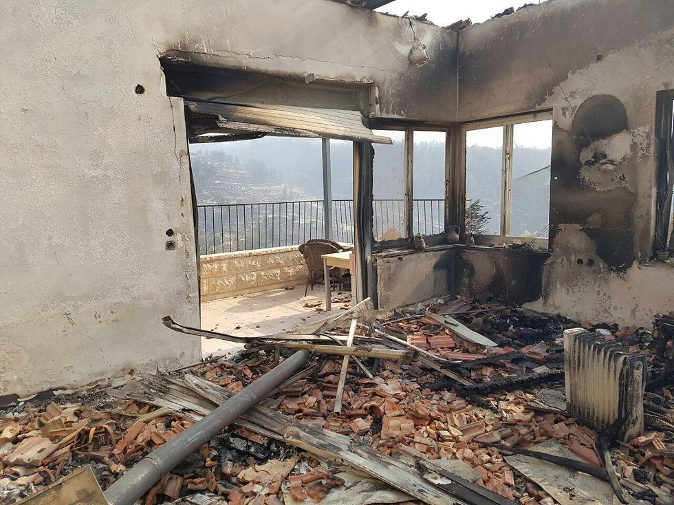 A house that burned down in Nataf (Photo: Toi Yanovsky)