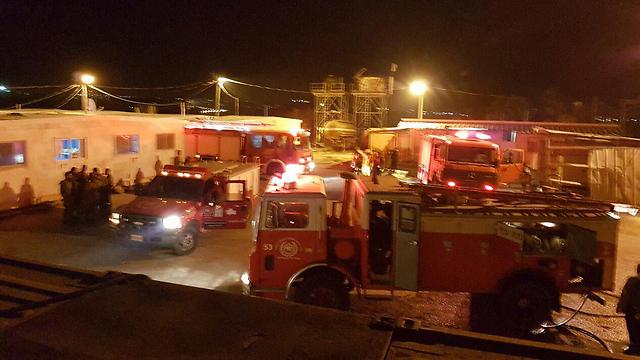 """שריפה במוצב צה""""ל בבנימין (צילום: אהוד אמיתון/TPS) (צילום: אהוד אמיתון/TPS)"""