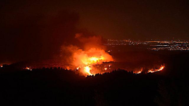 השריפה באזור ירושלים (צילום: מיקי טוטנאור) (צילום: מיקי טוטנאור)