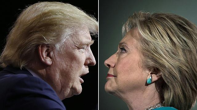 קמפיין שכולו אינטרנט. קלינטון וטראמפ (צילום: AFP)