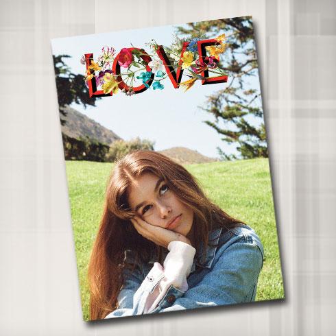בדרך להפוך לצלמת? קאיה גרבר בצילום של קנדל ג'נר על שער מגזין LOVE (צילום: KENDALL JENNER)