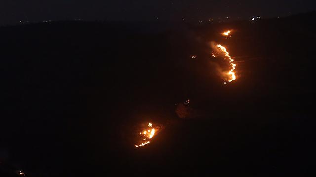 The forest fire spreads toward Nataf (Photo: Gil Yohanan) (Photo: Gil Yohanan)