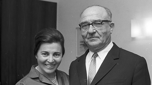 Miriam and Levi Eshkol. She kept his letters devotedly (Photo: David Rubinger)
