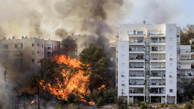 חיפה ספגה פגיעה קשה (צילום: AFP) (צילום: AFP)