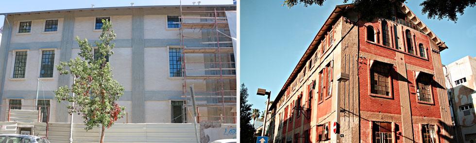 בית החרושת לודז'יה ברחוב נחמני בתל אביב (''הבית האדום'') עבר לידיו של רוני דואק, שמסב אותו למגורי יוקרה (צילום: ארז מונצש, דנה קופל)