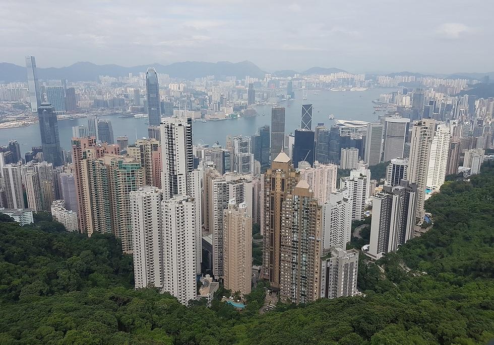 פסגת ויקטוריה. הונג קונג בשיאה (צילום: סיגלית בר) (צילום: סיגלית בר)