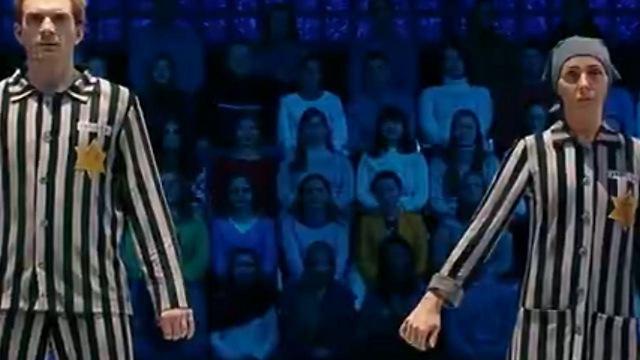 נבקה ובורוקובסקי במהלך הריקוד השערורייתי ()