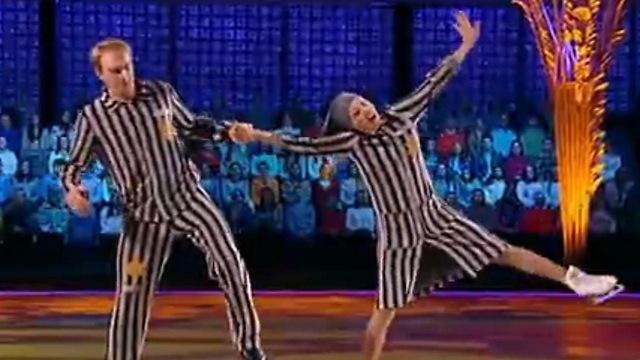 Burkovsky (L) and Navka perform