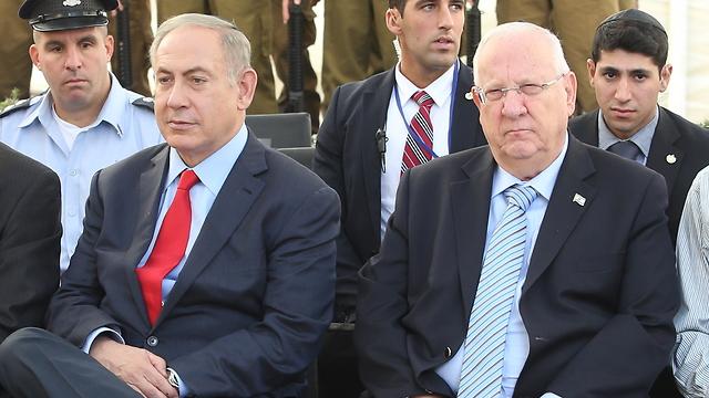 Rivlin and Netanyahu (Photo: Amit Shabi)