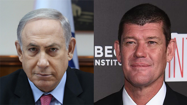 Netanyahu, Packer (Photos: Amit Shaabi, Getty Images) (Photo: Amit Shabi, Getty Images)