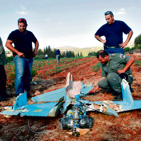 A Hezbollah drone shot down in northern Israel